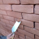 Colour matching mortar for brickwork