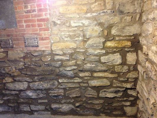 Lovely Typical Stonework On Interior Foundation Wall